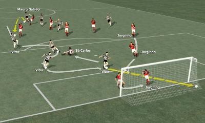 Flamengo 3 x 3 Botafogo - Clique para ampliar